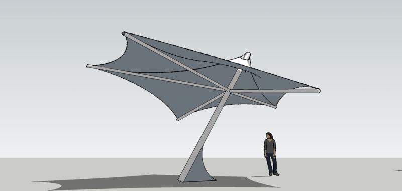 Конический зонт